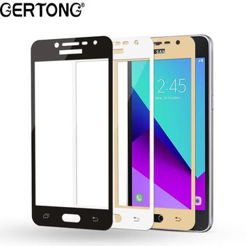 GerTong 9H Full Cover Screen Protector For Samsung Galaxy S7 S6 J3 J5 J7 A3 A5 A7 2016 2017 Tempered Glass Phone Case Film