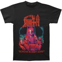 Death Men's  Scream Bloody Gore T-shirt Black Rockabilia