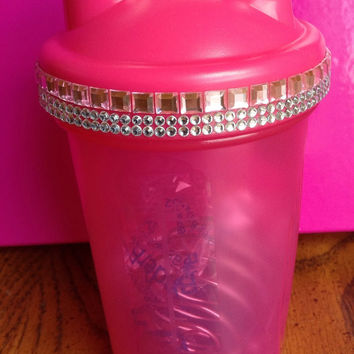 Pink Bedazzled Protein shaker