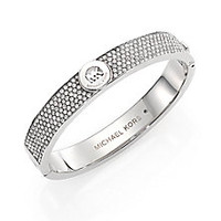 Michael Kors - Heritage Fulton Signature Pavé Bangle Bracelet/Silvertone - Saks Fifth Avenue Mobile