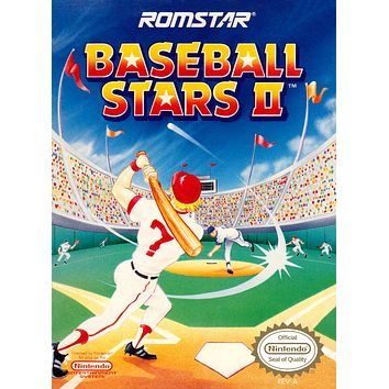 Retro Baseball Stars 2 Game Poster//NES Game Poster//Video Game Poster//Vintage Game Cover Reprint