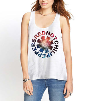 Red Hot Chili Peppers Galaxy Womens Tank Top *