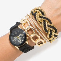 Masie Rope Accent Arm Candy Watch
