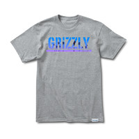 Grizzly Sunset Stamp Tee in Heather