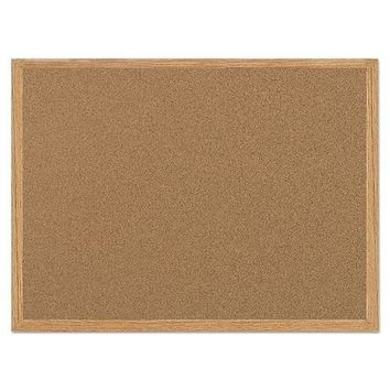 MasterVision® Value Cork Board with Oak Frame