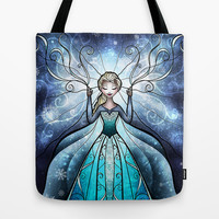 The Snow Queen Tote Bag by Mandie Manzano