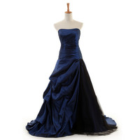 Long Prom Dress/Elegant Guest Dress/Party Dress/ Royal Blue Evening dress /Ball Gown Dress DT100089