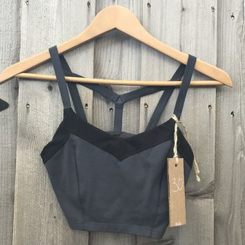Athleta Sports Bra Black & Gray