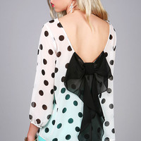 Bow Dotter Blouse