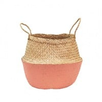 Coral Dipped Belly Basket by Olli Ella