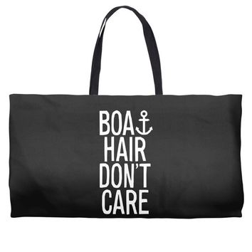 boat hair don't care Weekender Totes