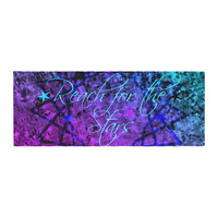 "Ebi Emporium ""Reach For The Stars"" Pink Teal Bed Runner"