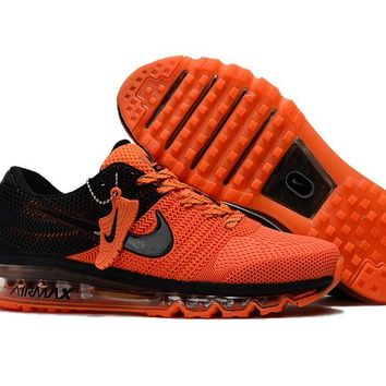 New Nike Air Max Orange and black Train Running Shoes -2017 Release
