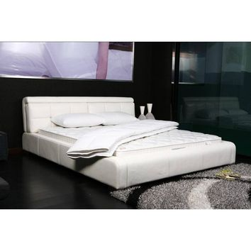 Basic Solid White Ultra Extra Comfort Bed Top Mattress Quilted Cover Padding - 1-Piece