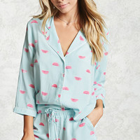 Watermelon Print PJ Set