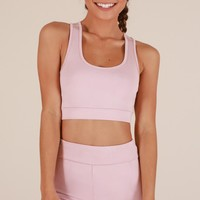 Push Through Crop Top in Blush Produced By SHOWPO