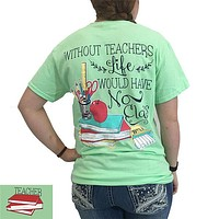 Southern Couture Preppy Classy Teacher Mint Green T-Shirt
