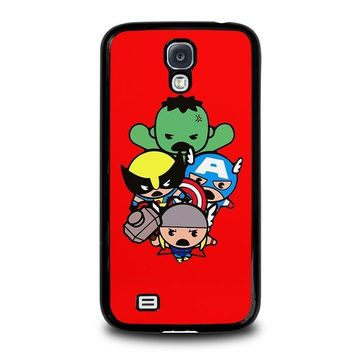 kawaii captain america hulk thor wolverine marvel avengers samsung galaxy s4 case cover  number 1