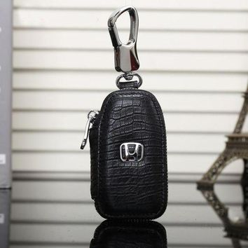 DCCKOB6D Honda Fashion Leather Zipper Car Key Wallet Case Cover