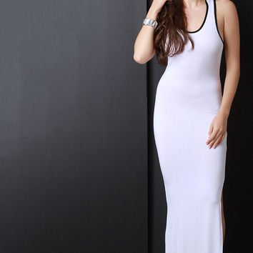 Hooded Sleeveless Maxi Dress