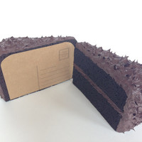 Mailable 3D Chocolate Cake Postcard