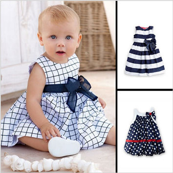 2016 Hot Baby Girl Dress Above Knee Infant Baby Dress Lolita Style 1 Year Birthday Dress Sleeveless  Summer Dresses for baby
