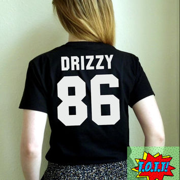 Drizzy 86 Tour T Shirt Unisex White Black Grey S M L XL Tumblr Instagram Blogger