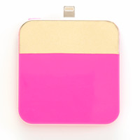 ban.do back me up mobile charger pink & gold