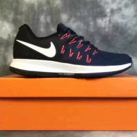 """NIKE"" The new knitted net surface breathable sneaker soft-soled running casual shoes Dark blue"