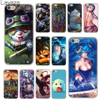 Lavaza lol League of Legends Hard Plastic Fashion Clear Skin Phone Cover Case for Apple iPhone 5 5S SE Back Coque Shell