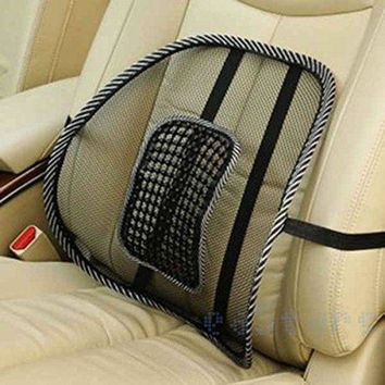ONETOW NEW Car Seat Office Chair Back Lumbar Massage Mesh Ventilate Cushion Support Pad Mat