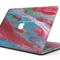 Abstract Wet Paint Red and Blue - MacBook Pro with Retina Display Full-Coverage Skin Kit