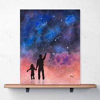 """Father-Daughter Stargazing"" Print"