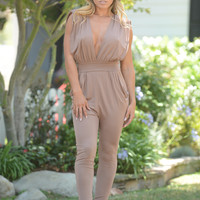 Jaelyn Jumpsuit - Camel