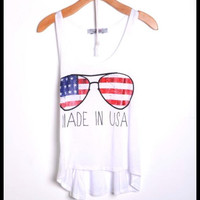 Made in the USA flag tank