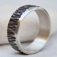 Mens ring, Silver band ring, Cool mens ring, Mens wedding band,