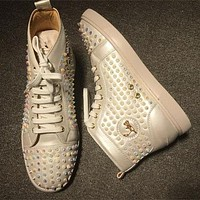Cl Christian Louboutin Louis Spikes Style #1844 Sneakers Fashion Shoes
