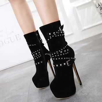 Platform Ankle Boots For Women