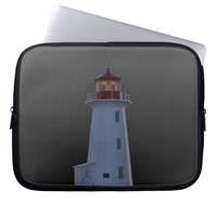 Peggy's Cove Lighthouse Route Nova Scotia Laptop Computer Sleeve