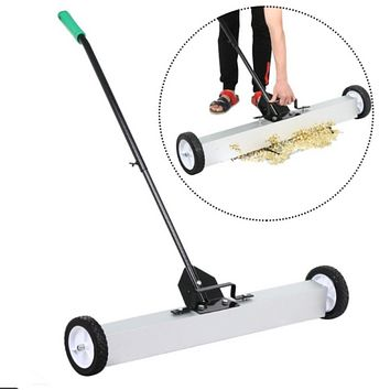 """36""""Magnetic Sweeper Magnetic Broom Rolling Magnetic Pickup Sweeper Heavy Duty"""