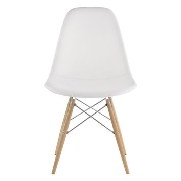 Mid Century Dowel Side Chair Milano White