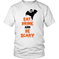 Eat Drink and Be Scary Ghost Halloween T-Shirt