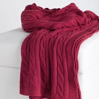 Rizzy Home Cable Knit Throw