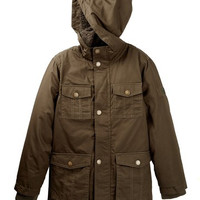Cotton Twill Hooded Faux Shearling Lined Jacket (Big Boys)