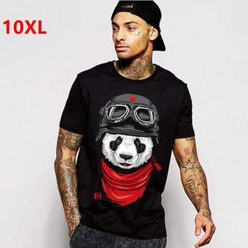 plus size fat clothing men's  short-sleeve 8xl o-neck lycra cotton short-sleeve t-shirt Short sleeve T-shirt 155 cm chest