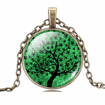 Green Life Tree Necklace