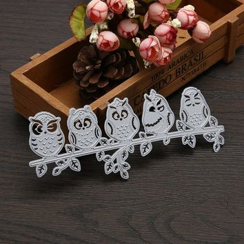 Cute Owl Metal Cutting Dies Stencils DIY Scrapbooking Decorative Craft Cards