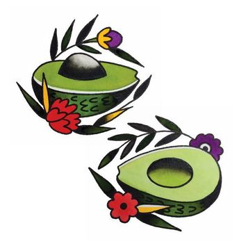 TATTLY TEMPORARY TATTOOS AVOCADO