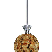 Uttermost Pearlessa 1 Light Mosaic Mini Pendant - 21961