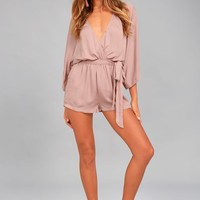 Ain't It Grand Mauve Romper